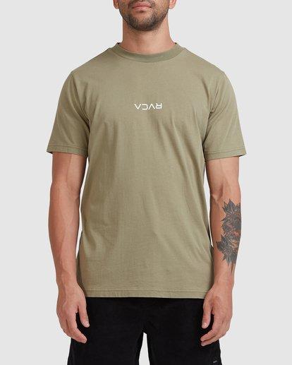 0 RVCA MINI FLIPPED SHORT SLEEVE TEE Green R105048 RVCA