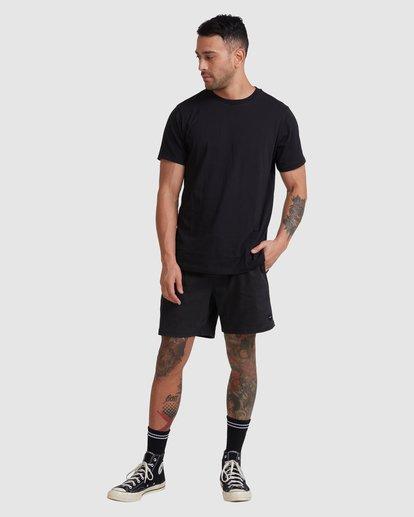 4 Rvca Washed Short Sleeve Tee Black R105050 RVCA