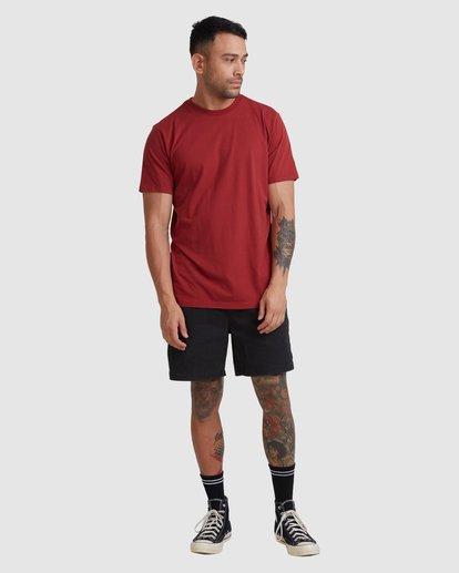 4 Rvca Washed Short Sleeve Tee Pink R105050 RVCA