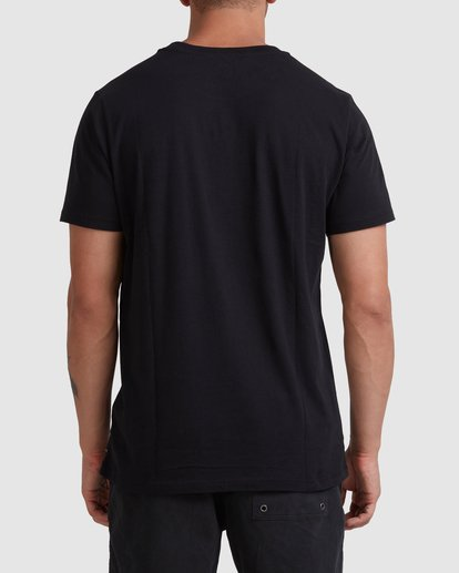 2 Rvca Washed Short Sleeve Tee Black R105050 RVCA
