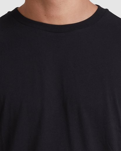 3 Rvca Washed Short Sleeve Tee Black R105050 RVCA