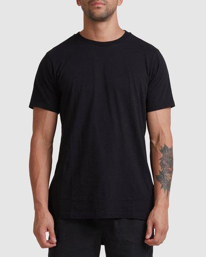 0 Rvca Washed Short Sleeve Tee Black R105050 RVCA