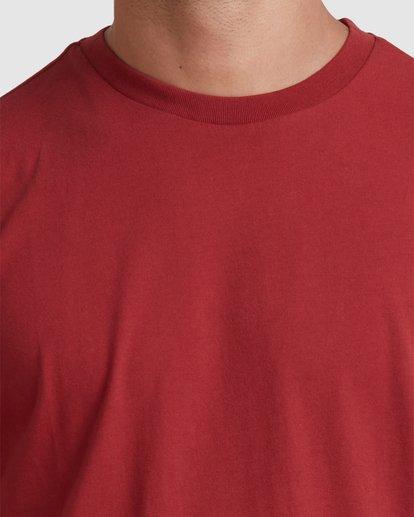 3 Rvca Washed Short Sleeve Tee Pink R105050 RVCA