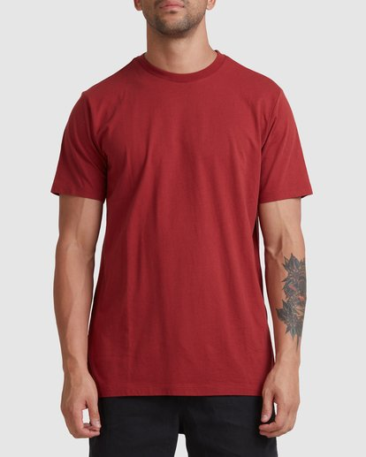 0 Rvca Washed Short Sleeve Tee Pink R105050 RVCA