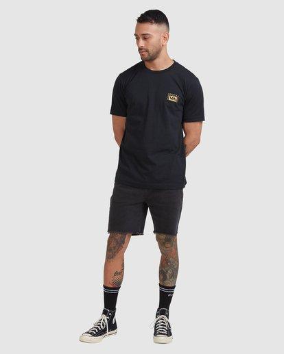 4 Vert Liner Short Sleeve Tee Black R105052 RVCA
