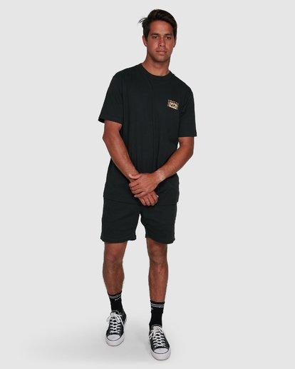 11 Vert Liner Short Sleeve Tee Black R105052 RVCA