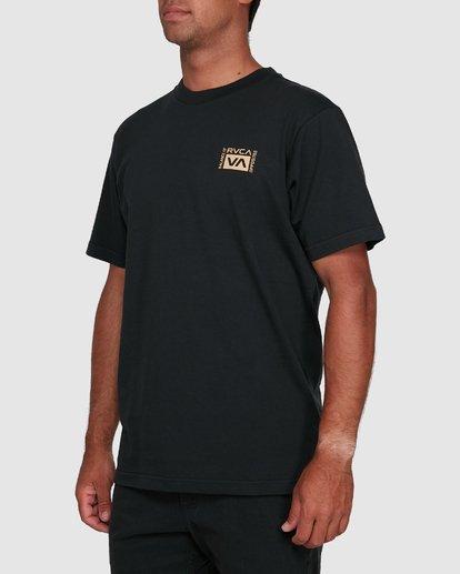7 Vert Liner Short Sleeve Tee Black R105052 RVCA