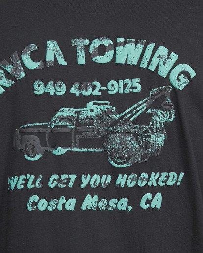 5 RVCA TOWING SHORT SLEEVE TEE  R105061 RVCA