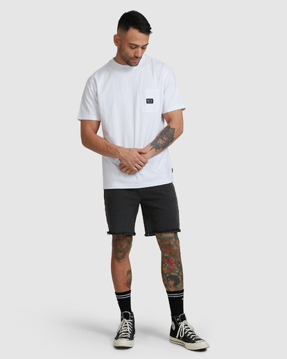 4 CHAINMAIL POCKET SS TEE White R105069 RVCA