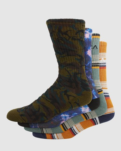 0 Rvca Seasonal Sock 4 Pack  R105601 RVCA