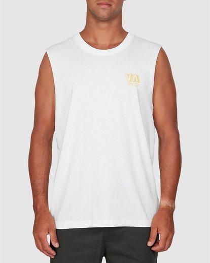 2 Rvca Straya Muscle Top White R106001 RVCA