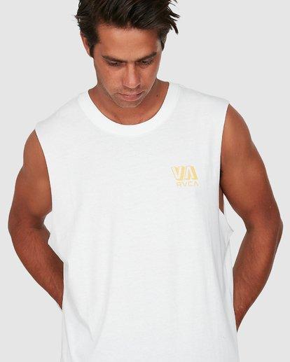 3 Rvca Straya Muscle Top White R106001 RVCA