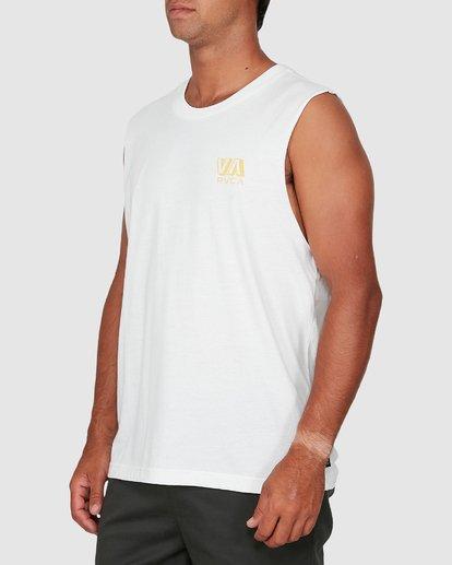 1 Rvca Straya Muscle Top White R106001 RVCA