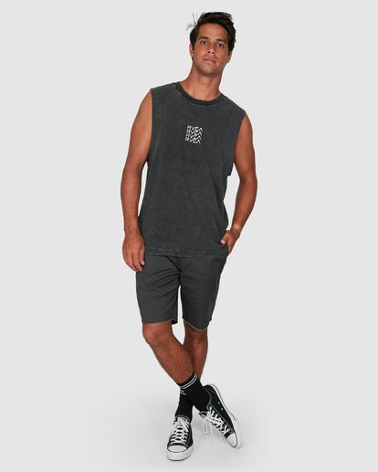5 Puzzle Muscle Top  R106006 RVCA