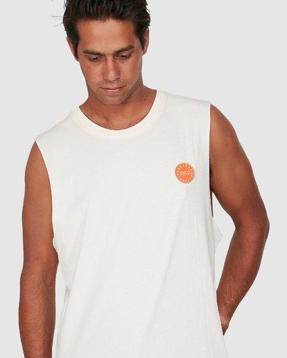 3 Sun Of Rvca Muscle Top White R106008 RVCA