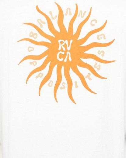 4 Sun Of Rvca Muscle Top White R106008 RVCA