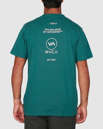 2 Longitude Short Sleeve Tee Green R106042 RVCA