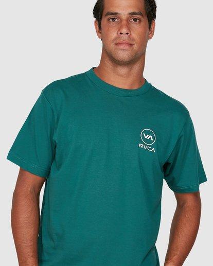 3 Longitude Short Sleeve Tee Green R106042 RVCA