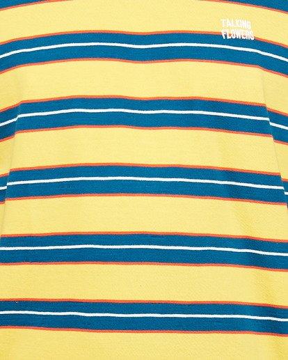 4 Speak Up Stripe Short Sleeve Tee Yellow R106065 RVCA