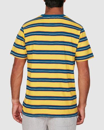 1 Speak Up Stripe Short Sleeve Tee Yellow R106065 RVCA