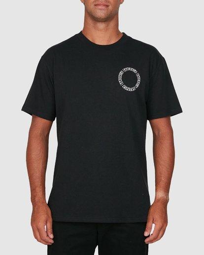 0 Baker Rvca Short Sleeve Tee Black R106068 RVCA