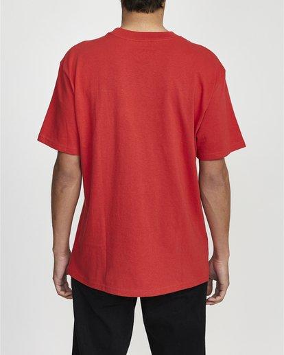 2 Ransom Short Sleeve Tee Red R106069 RVCA
