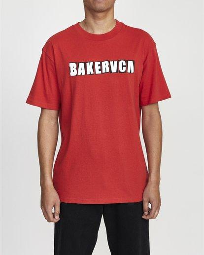 0 Ransom Short Sleeve Tee Red R106069 RVCA