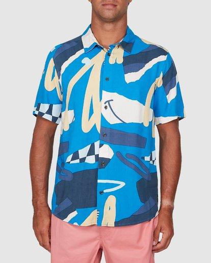 0 Ultrablue Short Sleeve Shirt Blue R106181 RVCA