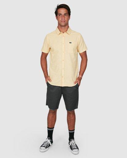 5 Crushed Check Short Sleeve Shirt Yellow R106187 RVCA