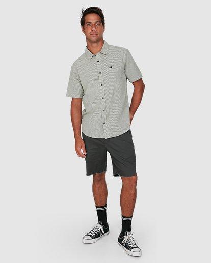 5 Endless Seersucker Short Sleeve Shirt Green R106189 RVCA