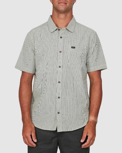 0 Endless Seersucker Short Sleeve Shirt Green R106189 RVCA