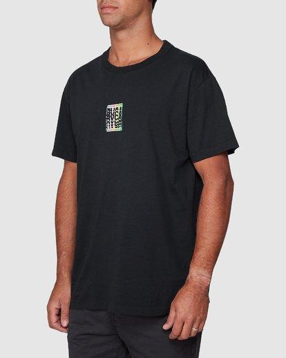 2 Stagger Short Sleeve Tee  R107044 RVCA