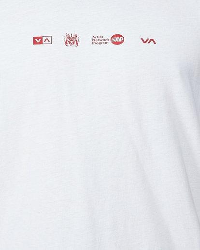 4 All Brand Short Sleeve Tee White R107049 RVCA