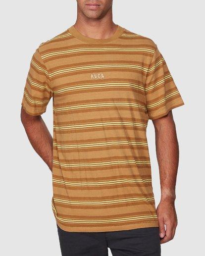1 Warp Stripe Short Sleeve Tee  R107060 RVCA