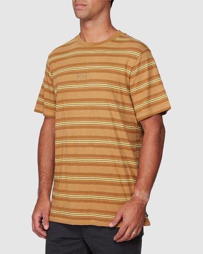 2 Warp Stripe Short Sleeve Tee  R107060 RVCA