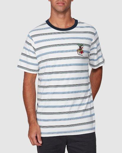 0 Aloha Stripe Short Sleeve Tee  R107061 RVCA