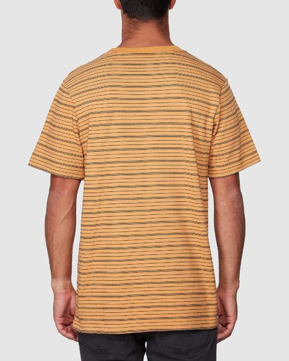 3 Rain Stripe Short Sleeve Tee  R107062 RVCA