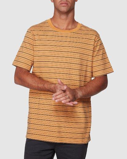 0 Rain Stripe Short Sleeve Tee  R107062 RVCA