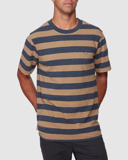 0 Shallow End Stripe Short Sleeve Tee  R107063 RVCA