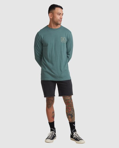 4 VA All The Ways Long Sleeve Tee Green R107091 RVCA