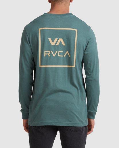 2 VA All The Ways Long Sleeve Tee Green R107091 RVCA