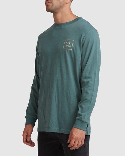 1 VA All The Ways Long Sleeve Tee Green R107091 RVCA