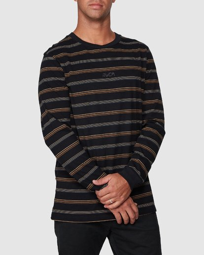 0 Merc Stripe Long Sleeve Tee  R107095 RVCA