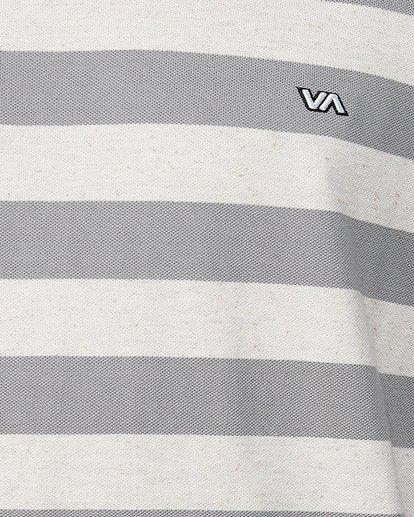 4 Shallow End Stripe Long Sleeve Tee  R107096 RVCA
