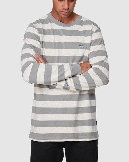 0 Shallow End Stripe Long Sleeve Tee  R107096 RVCA
