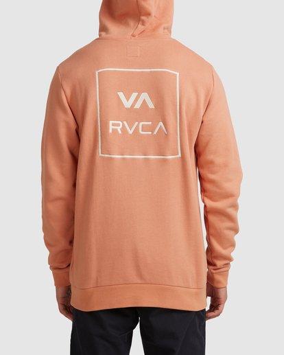 2 RVCA ALL THE WAYS HOODIE Pink R107152 RVCA