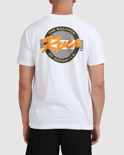 0 Home Field Short Sleeve Tee White R115042 RVCA