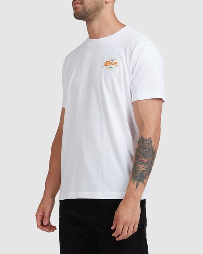 1 Home Field Short Sleeve Tee White R115042 RVCA
