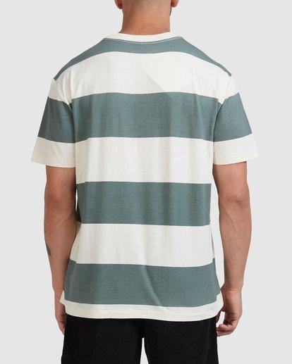 2 Harris Stripe Short Sleeve Tee Green R115043 RVCA