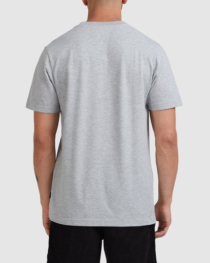 2 Script Short Sleeve Tee Grey R115045 RVCA